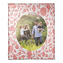 Designs Direct Coral Flowers Throw Blanket in Orange
