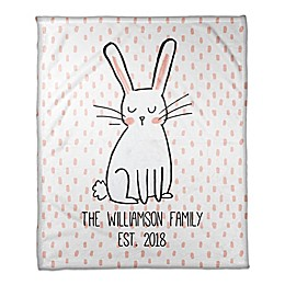 Designs Direct Polka Dots Bunny Throw Blanket in Pink