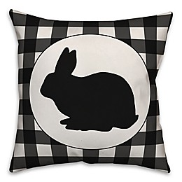 Designs Direct Check Bunny Square Throw Pillow