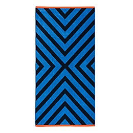 Destination Summer X Marks Beach Towel in Blue