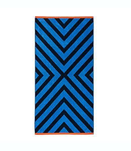 Toalla de playa Destination Summer X Marks en azul