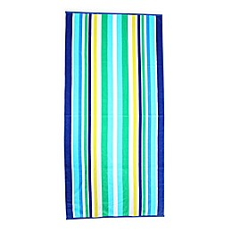 Destination Beach Cool Stripe Beach Towel in Blue