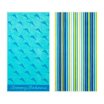 Tommy Bahama® Oceans Marlin/ Brazilian Stripe Beach Towel Set