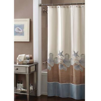 Croscill® Shells Ashore 70 Inch X 72 Inch Shower Curtain | Bed Bath U0026 Beyond