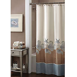 Croscill® Shells Ashore 70-Inch x 72-Inch Shower Curtain