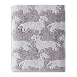 Saturday Knight Dog Bath Towel in Grey
