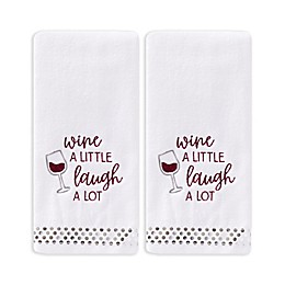 Wine a Little 2-Pack Hand Towel Set