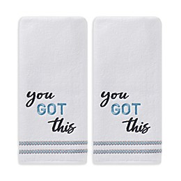 You Got This Hand Towels in White (Set of 2)