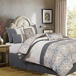 Camila Medallion Print 7-Piece California King Comforter Set