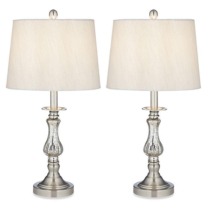 Bedroom Lamps Gold Coast: Pacific Coast® Lighting Ammolite Flute Table Lamp (Set Of