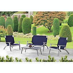 Destin 4-Piece Outdoor Set with Bench