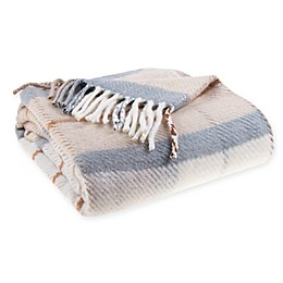 Bee & Willow™ Home Vintage Plaid Throw Blanket in Ivory