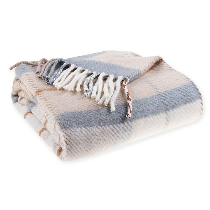 Alternate image 1 for Bee & Willow™ Home Vintage Plaid Throw Blanket in Ivory