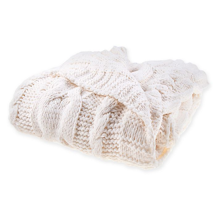 Alternate image 1 for Bee & Willow™ Home Cable Knit Throw Blanket