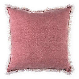 Bee & Willow™ Home Stone Washed Square Throw Pillow in Rose