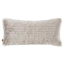 UGG® Harlow Jacquard Faux Fur Bolster Throw Pillow in Oyster