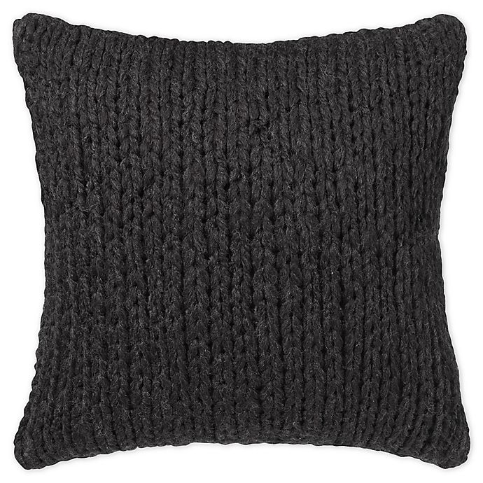 Alternate image 1 for UGG® Dorian Square Throw Pillow in Black