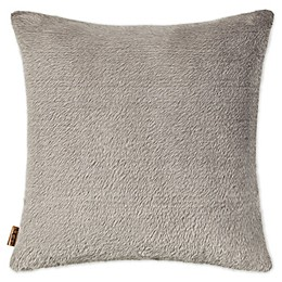UGG® Tamarack Faux Fur Square Throw Pillow in Mole