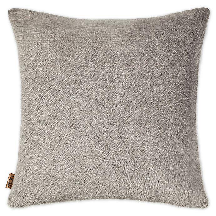 Alternate image 1 for UGG® Tamarack Faux Fur Square Throw Pillow in Mole