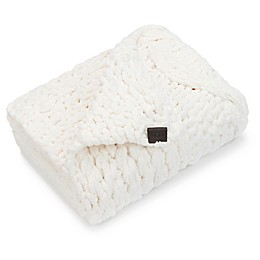 UGG® Harper Chenille Square Throw Blanket in Snow