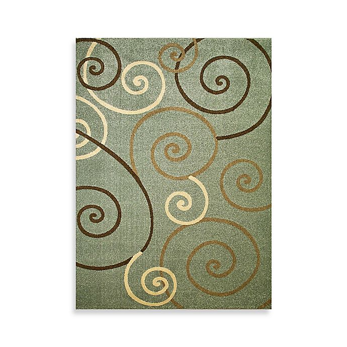 Alternate image 1 for Concord Global Trading Scroll Shag Rug