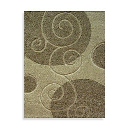 Concord Global Trading Scroll Rug in Ivory