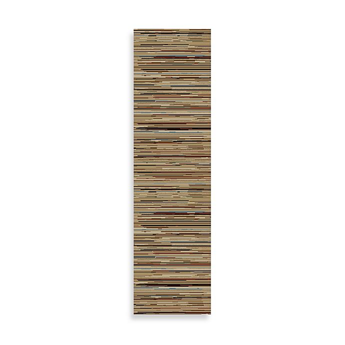 Alternate image 1 for Striation Stripes 2-Foot 3-Inch x 7-Foot 7-Inch Indoor Rug