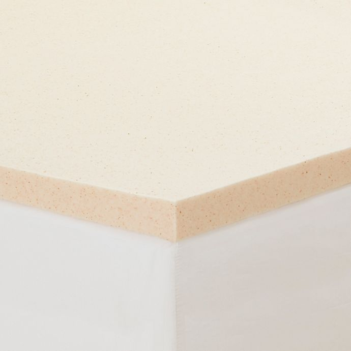 Alternate image 1 for CopperFresh® 2-Inch Memory Foam Twin Mattress Topper in Beige