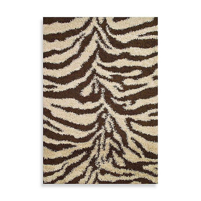 Shaggy Zebra Rug In Natural