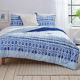 Ivory Ella® Sadie Twin Duvet Cover Set in Indigo