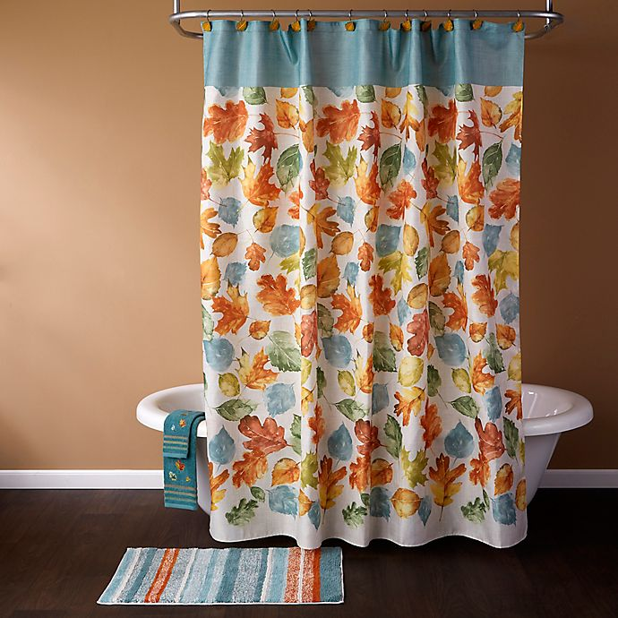 Alternate image 1 for Falling Leaves Shower Curtain Collection