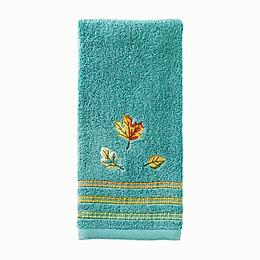 SKL Home Falling Leaves Hand Towel in Teal