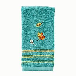 SKL Home Falling Leaves Fingertip Towel in Teal