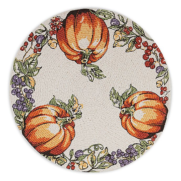 Alternate image 1 for Pumpkin Meadow Braided Round Placemat