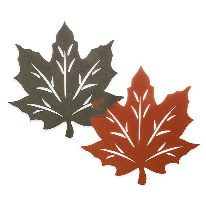 Alternate image 1 for Melange Felt Leaf Reversible Placemat