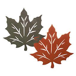 Melange Felt Leaf Reversible Placemat