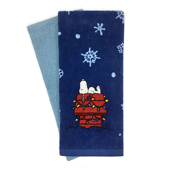 Peanuts™ 2 Piece Holiday Snoopy Kitchen Towels | Bed Bath & Beyond