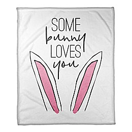 Designs Direct Some Bunny Loves You Throw Blanket