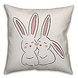Designs Direct Love Bunnies Square Throw Pillow