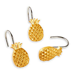 Saturday Knight Gilded Pineapple Shower Curtain Hooks in Gold