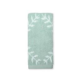 kate spade new york Fern Trellis Fingertip Towel in Turquoise