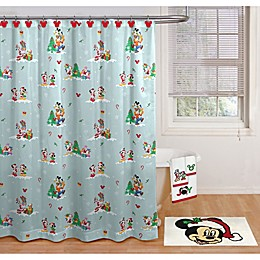 Disney® Holiday Mickey and Minnie Shower Curtain Collection
