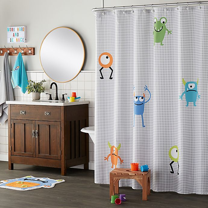 Alternate image 1 for Monsters Shower Curtain Collection