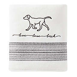 Furever Friends Bath Towel in White