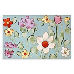 Liora Manne Watercolor Flower Door Mat