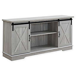 Forest Gate™ Englewood 58-Inch Barn Door TV Stand in Stone Grey