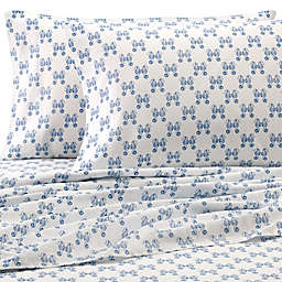 Coastal Life 300-Thread-Count Seahorse California King Sheet Set in Blue