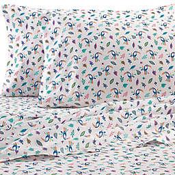 Coastal Life 300-Thread-Count Toucan King Sheet Set in Green/Pink