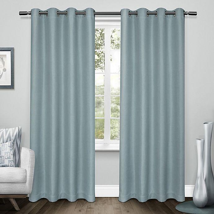 Alternate image 1 for Tweed 2-Pack Grommet Room Darkening Window Curtain
