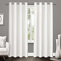 Tweed 2-Pack  96-Inch Grommet Room Darkening Window Curtain in Winter White
